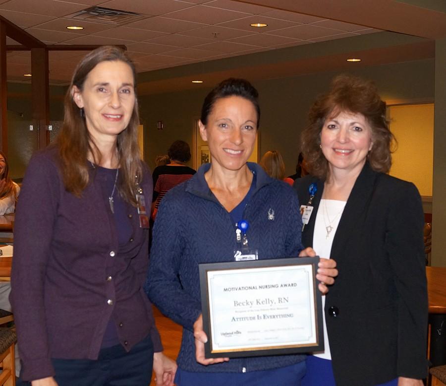 Becky Kelly Receives Motivational Nursing Award