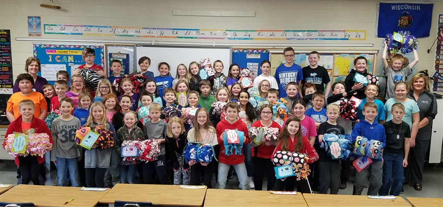 Mineral Point Fourth Graders Donate Love and Blankets