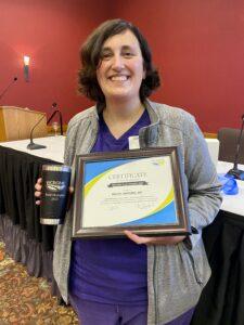 Dr. Rachel Hartline receives WCRGME Award